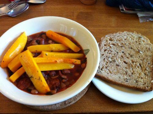 Bean chorizo and butternut squash1