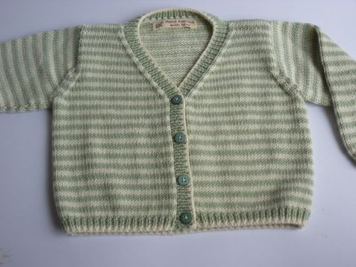 Striped DebbieBliss Cardi2