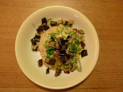 Aubergine and lemon risotto1
