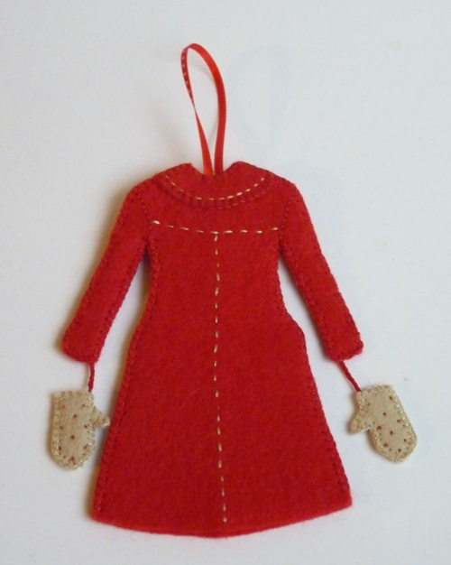 Red Coat Ornament Back