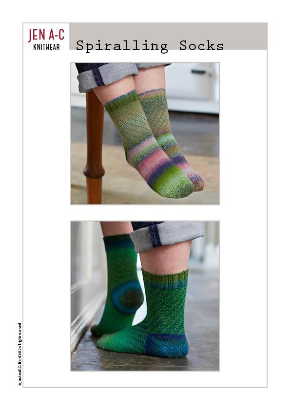 Spiralling Socks Cover